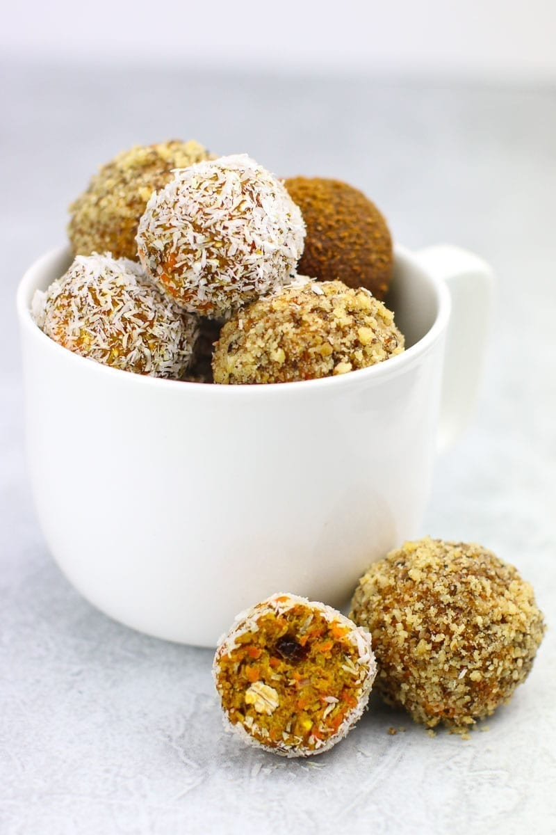 Healthy Vegan Breakfast Recipes, Carrot Cake Bites