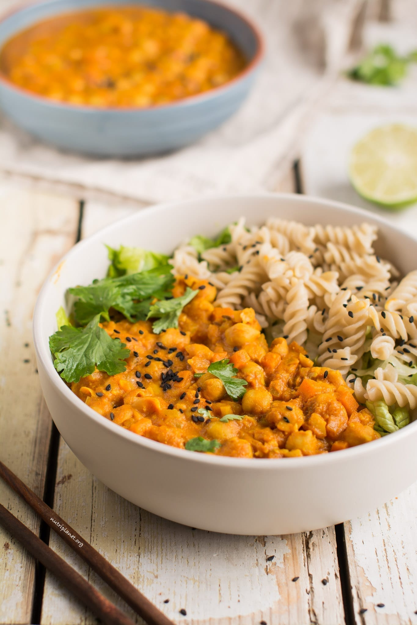 Vegan Chickpea Curry with Tomatoes