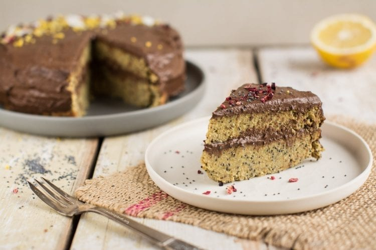 Vegan Lemon Cake with Poppy Seeds