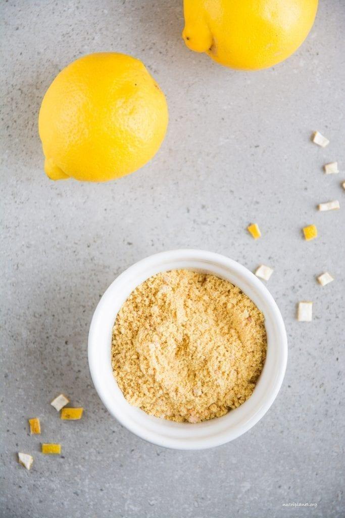 Homemade Dried Lemon Peel Powder