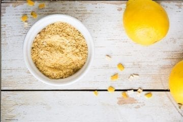 Homemade Dried Lemon Peel Powder