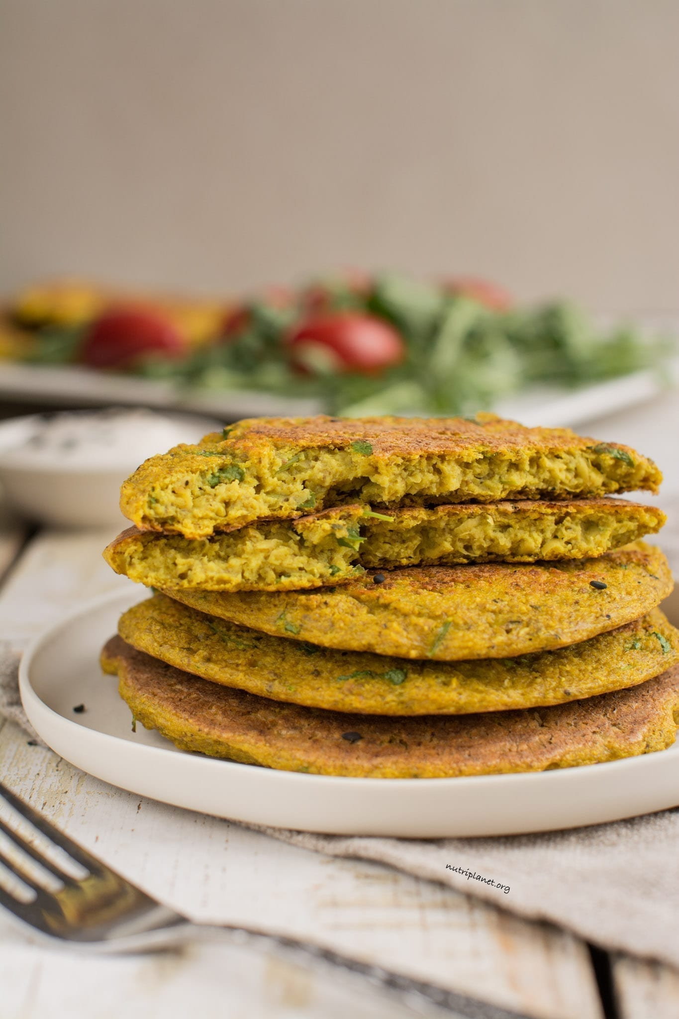 Vegan Omelette with Sprouted Chickpeas