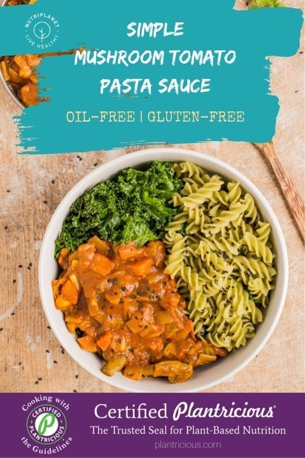 Simple Tomato Mushroom Pasta Sauce