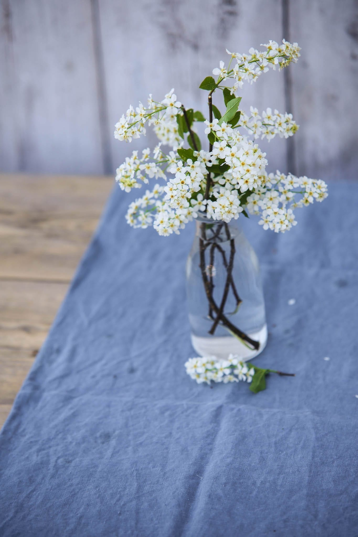 Blue Linen Tablecloth by MagicLinen