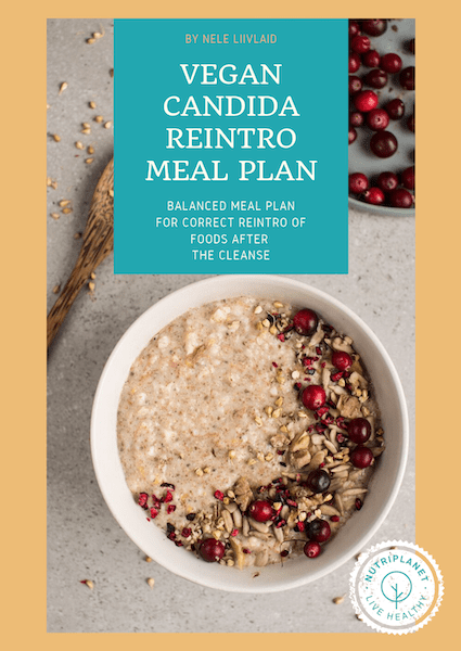Vegan Candida Reintroduction Meal Plan cover