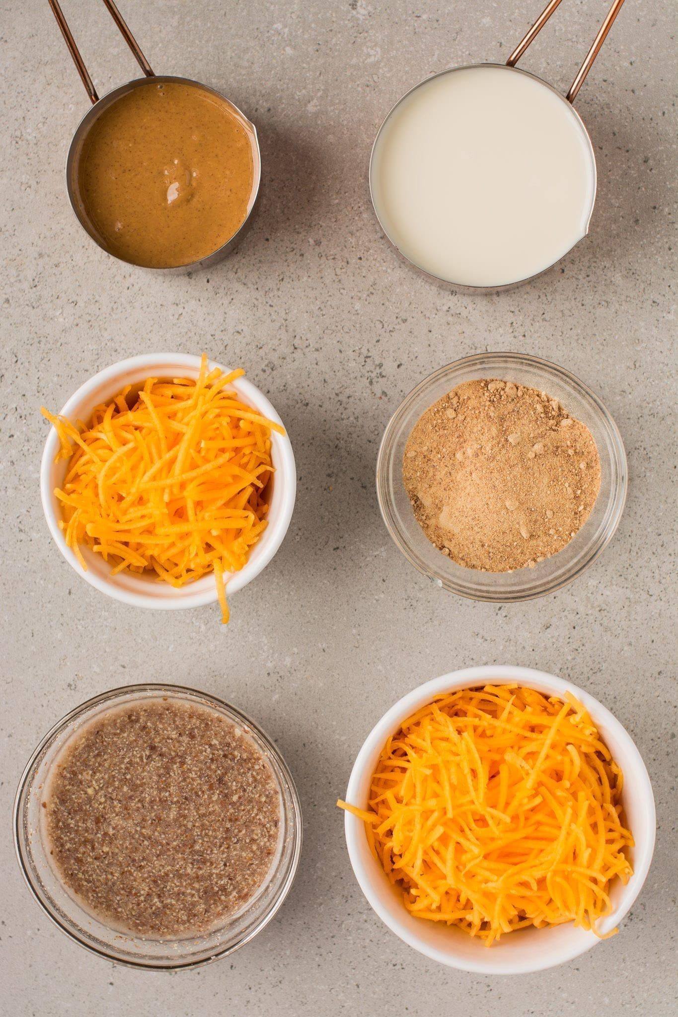 Wet ingredients of gluten free pumpkin bread