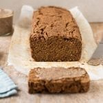 Perfectly moist vegan gluten-free pumpkin bread recipe that uses neither oils nor refined sugar.