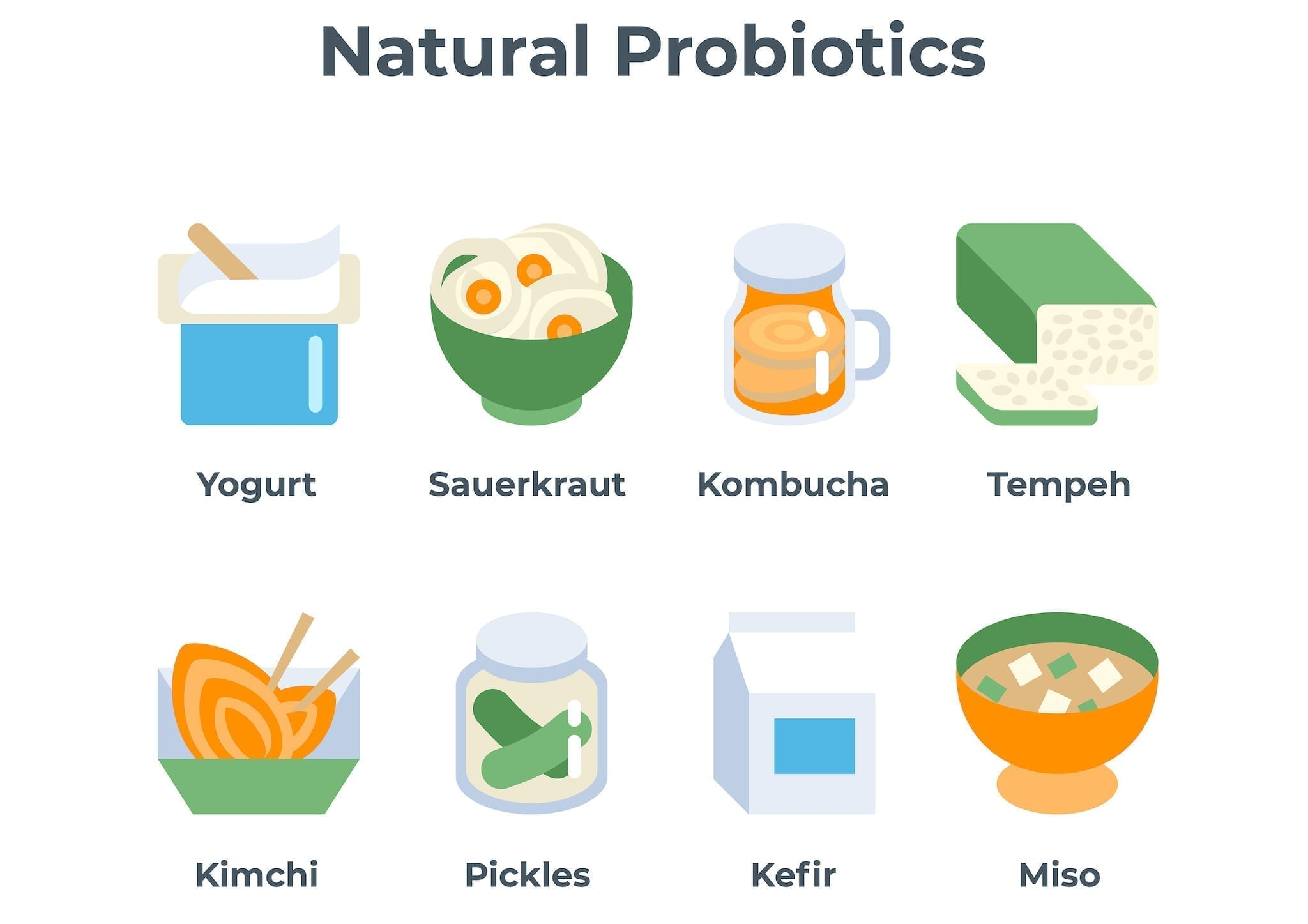 Natural probiotic foods