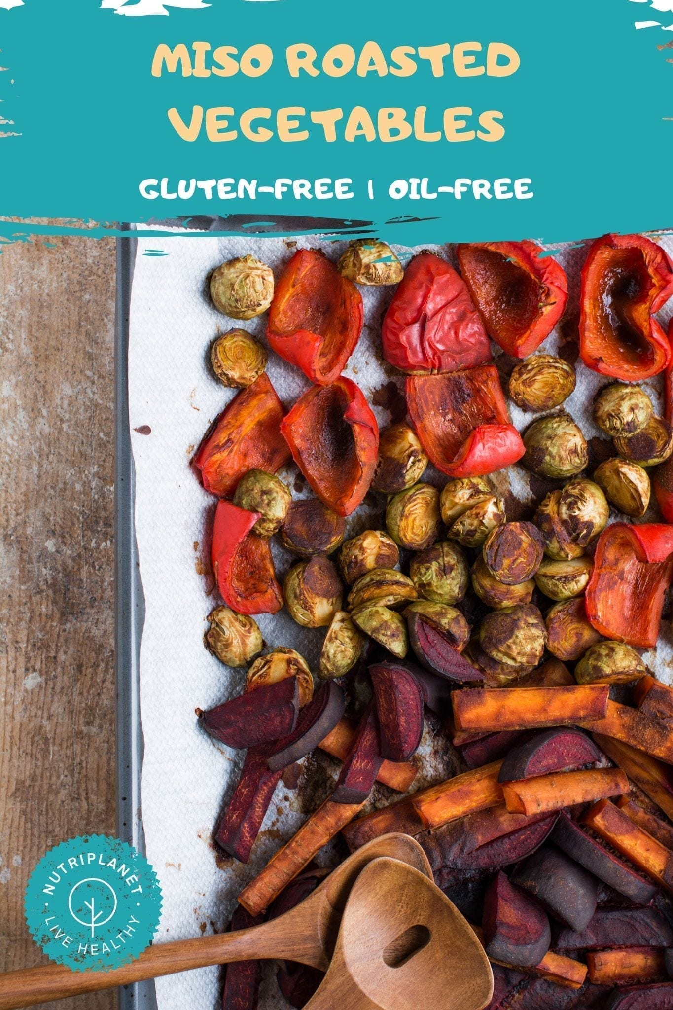 Miso Roasted Vegetables oil-free