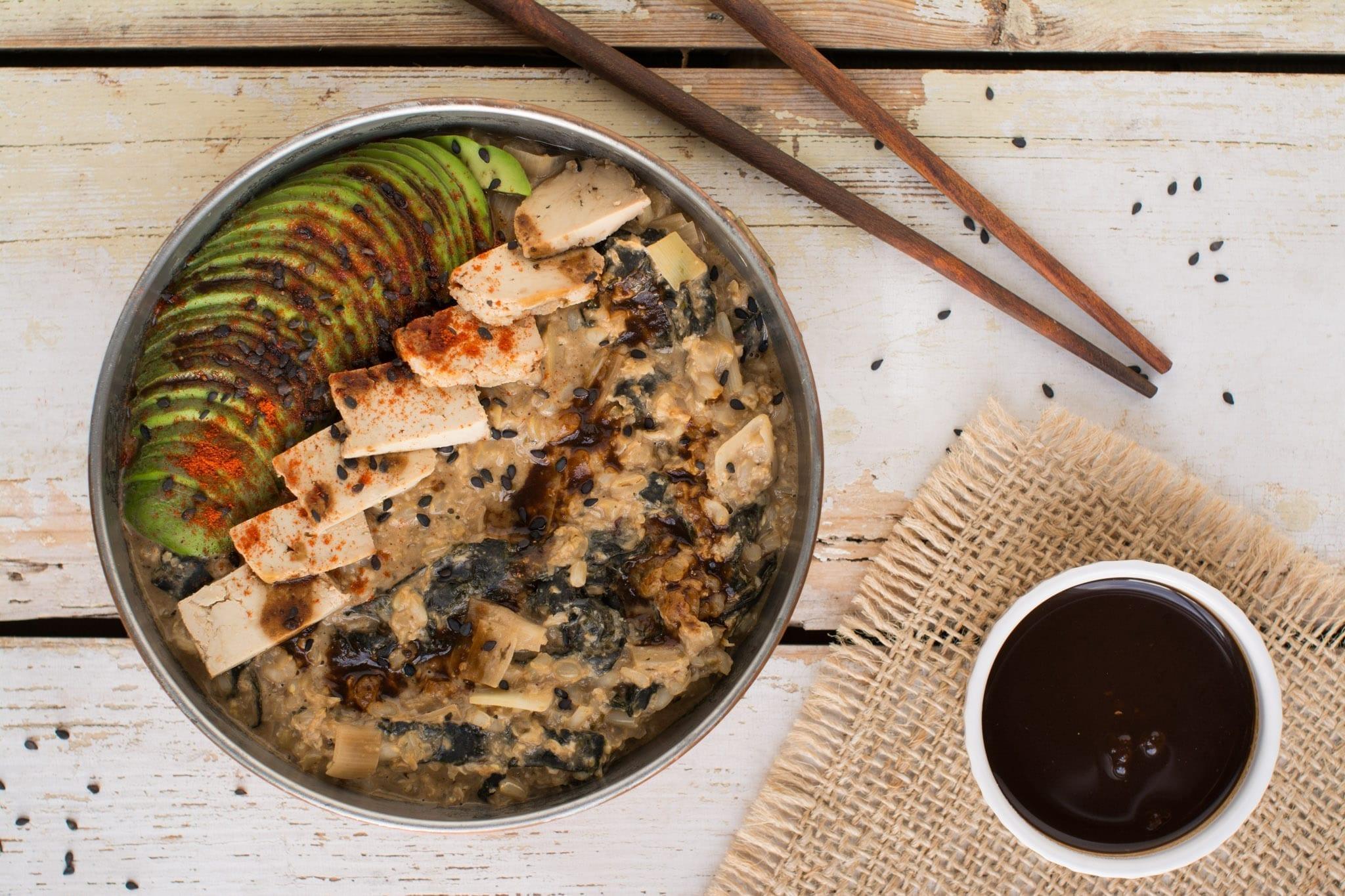 Japanese Breakfast Porridge Bowl [Vegan]   Nutriplanet