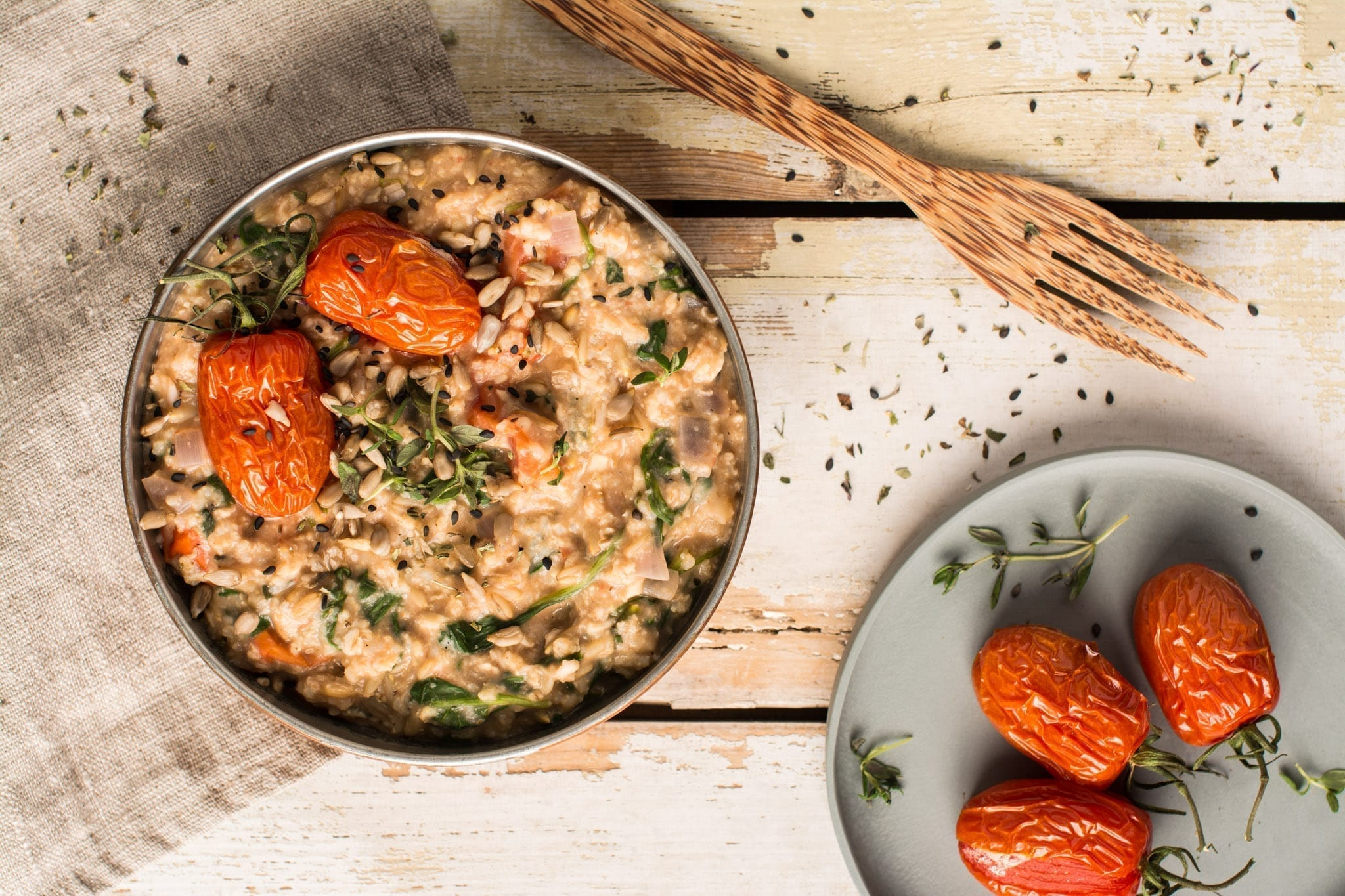 Mediterranean Savory Oatmeal with Millet   Nutriplanet