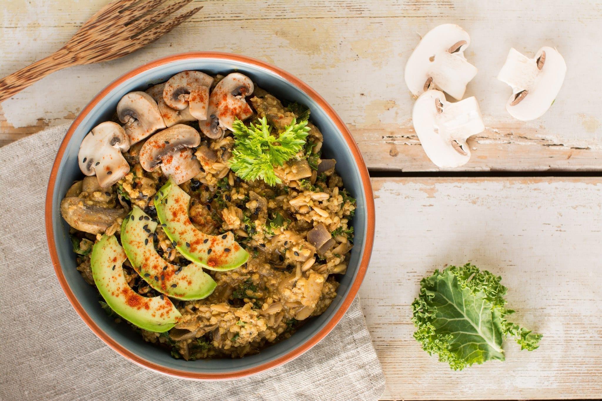Savoury Indian Spiced Curry Porridge [Vegan]   Nutriplanet