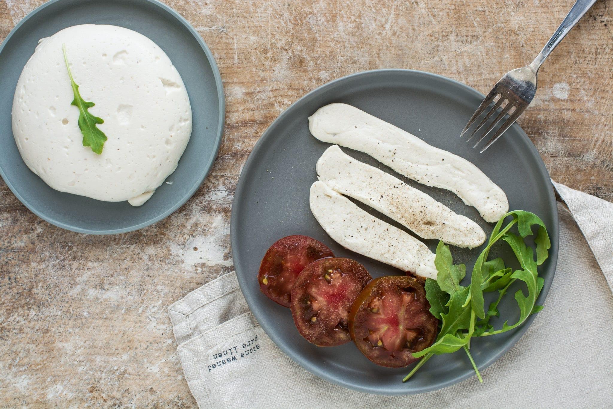 Vegan Mozzarella Cheese Recipe [Cashew-Based]   Nutriplanet