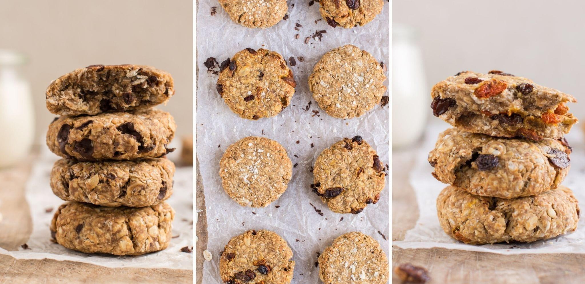 Vegan Oatmeal Cookies 3 Ways [Oil-Free]   Nutriplanet