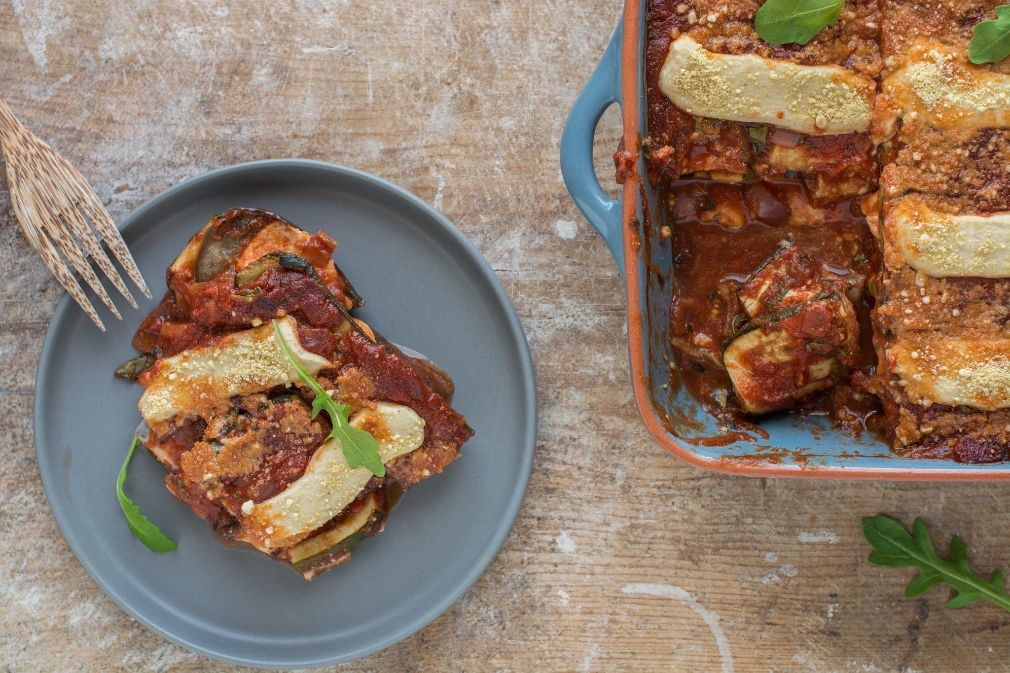How to Make Vegan Tomato Zucchini Casserole with Mozzarella   Nutriplanet
