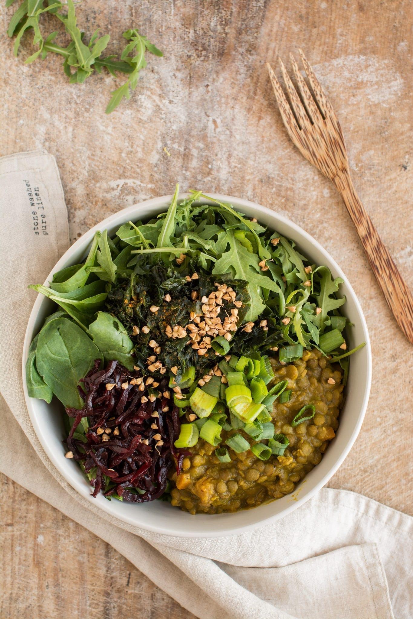 Dr. Greger's Daily Dozen meal plan Dinner Buddha Bowl