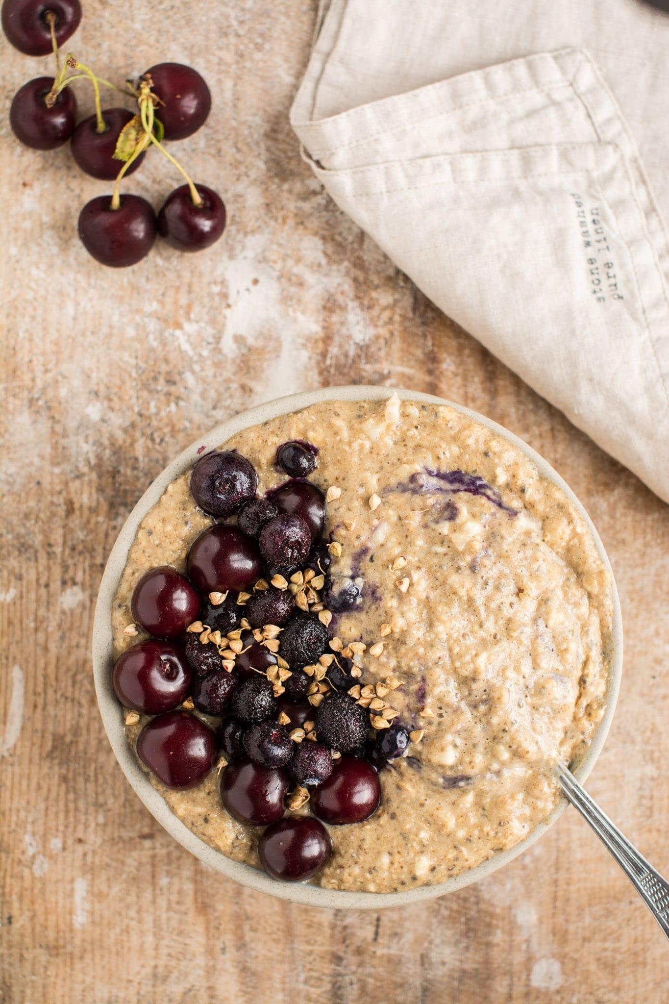 Dr. Greger's Daily Dozen meal plan Cauliflower Oatmeal