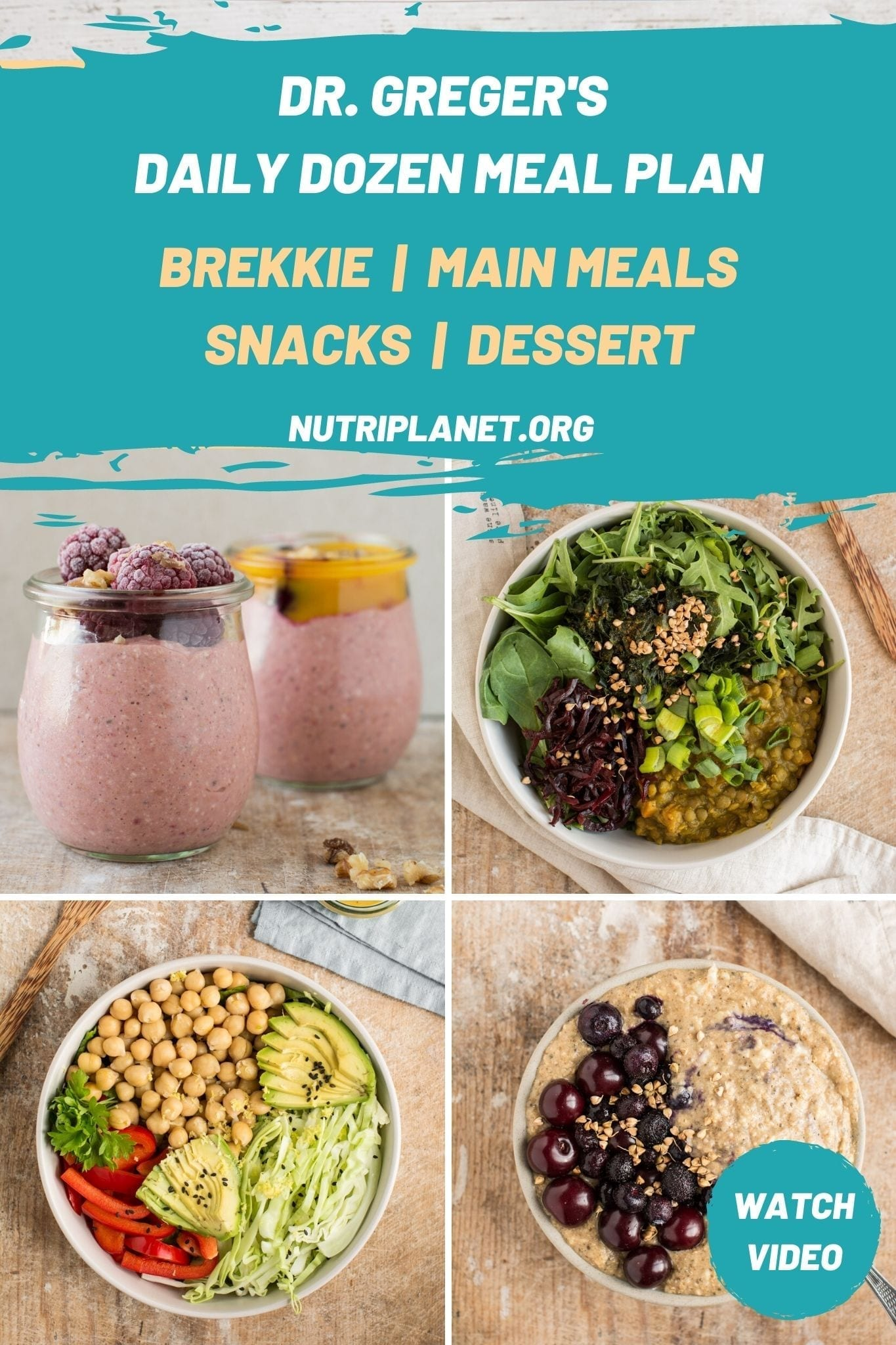 The Daily Dozen Meal Plan [Gluten-Free]