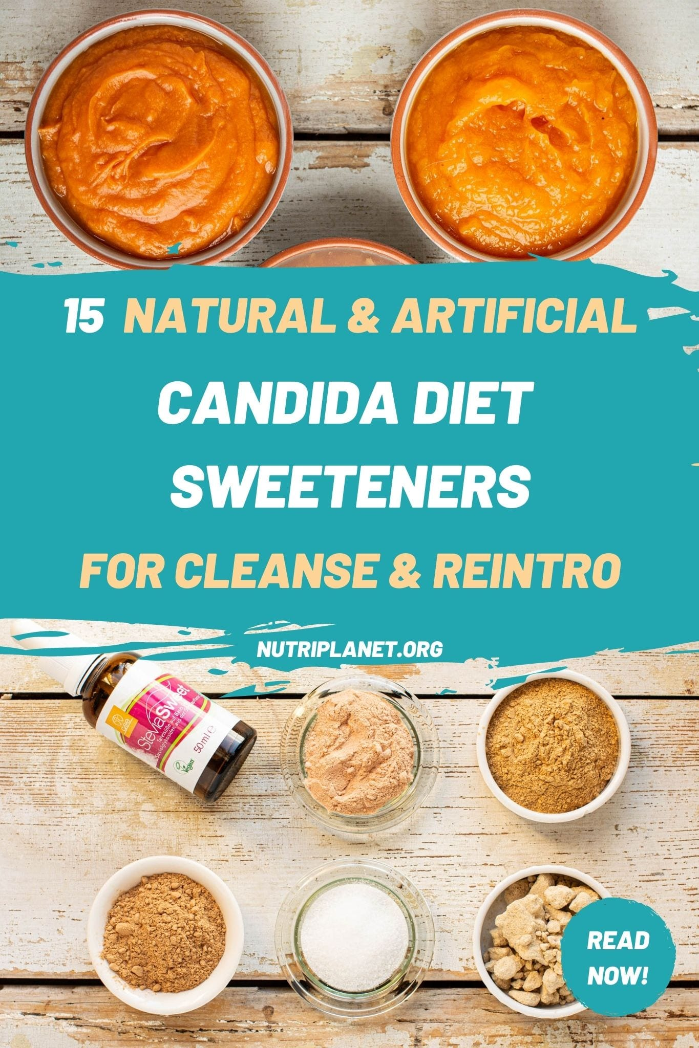 Learn how to use 15 Candida diet sweeteners for both cleanse and reintroduction phase.
