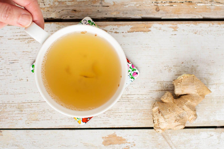Freshly made ginger tea