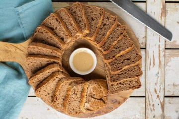 Learn how to make no-knead whole grain spelt sourdough bread.